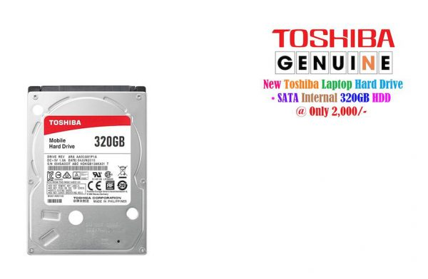 Toshiba Laptop 320GB Hard Drive