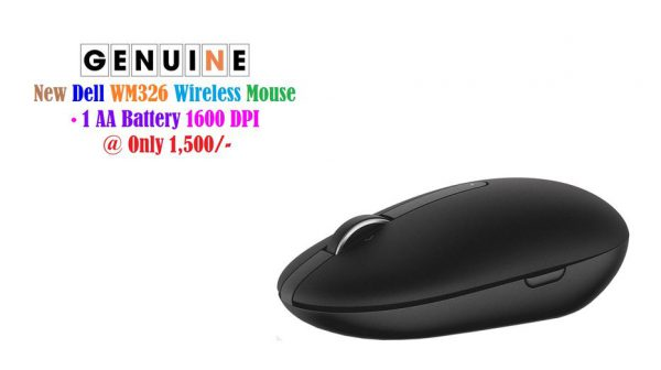 Dell Wireless Mouse WM326 Black at 1,500/- _ More New Genuine Accessories • HP H4D73AA Keyed Cable Laptop Lock at 1,000/- • HP Wireless Keyboard & Mouse 4CE99